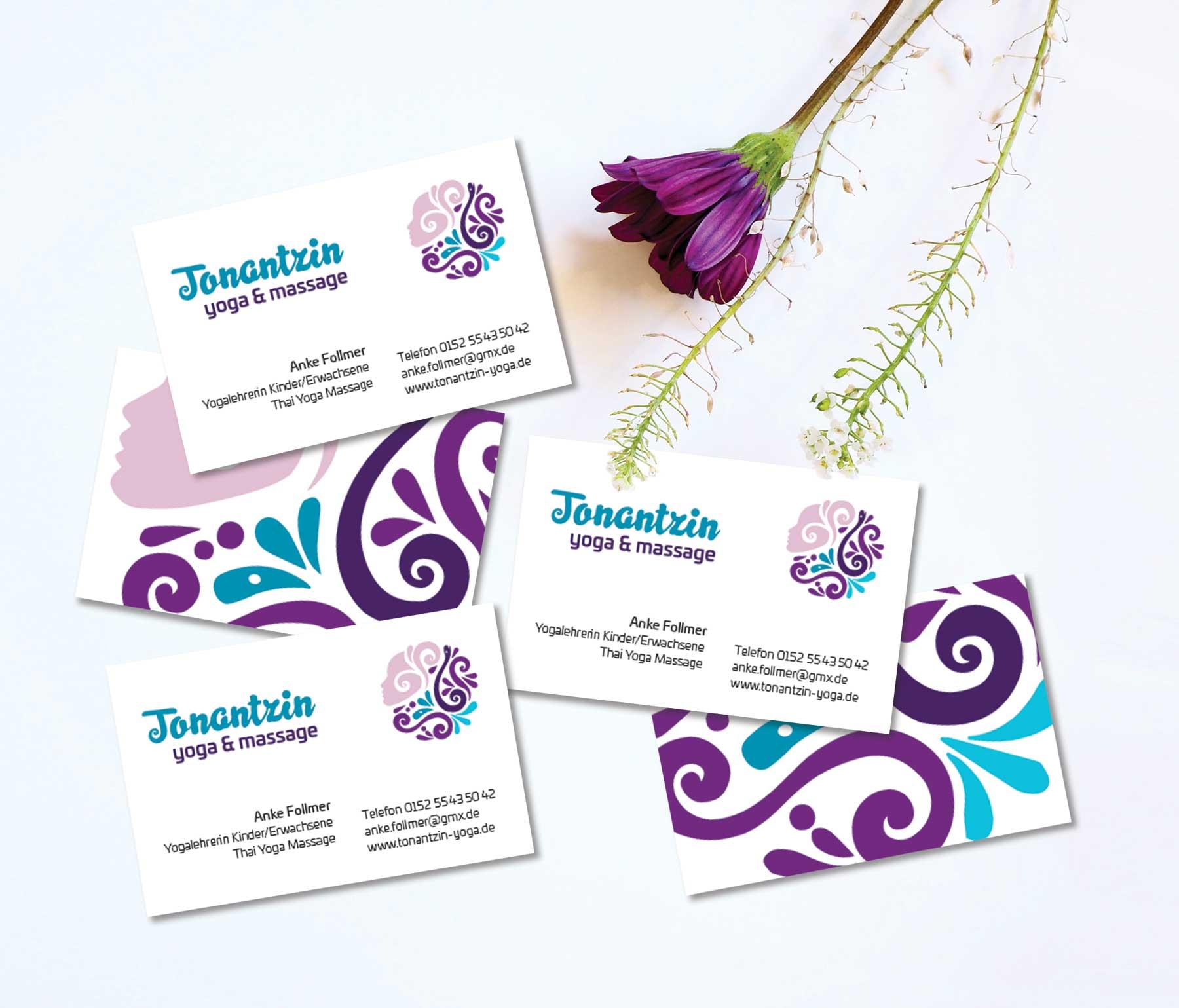 Tonantzin Yoga Visitenkarten
