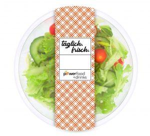 Powerfood Salatschale mit Banderole