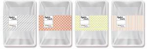 Vier Packungen Salatschalen mit Banderole