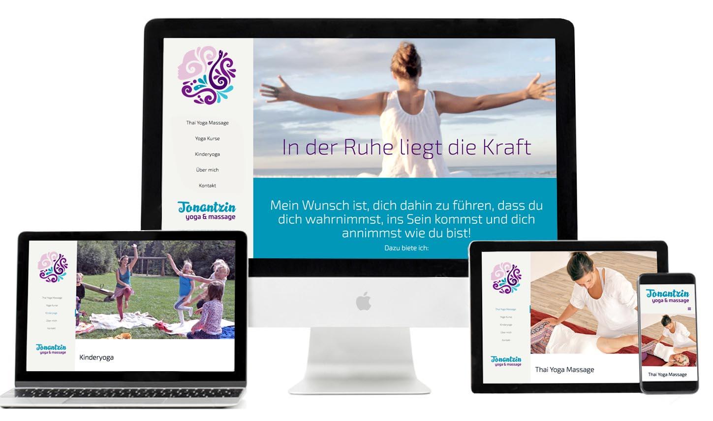 Website Design für Tonantzin Yoga & Massage