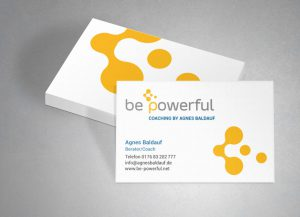 Visitenkarten-Design Be Powerful