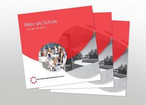 Erich-Hauser-Gewerbeschule Rottweil Broschüren-Design Abbildung der Coverseite