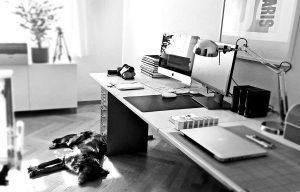 Blick in das Designbüro von ausdrucksstark.design